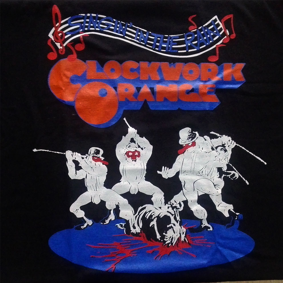 T-SHIRT (BLACK-SINGING IN THE RAIN CLOCKWORK ORANGE)
