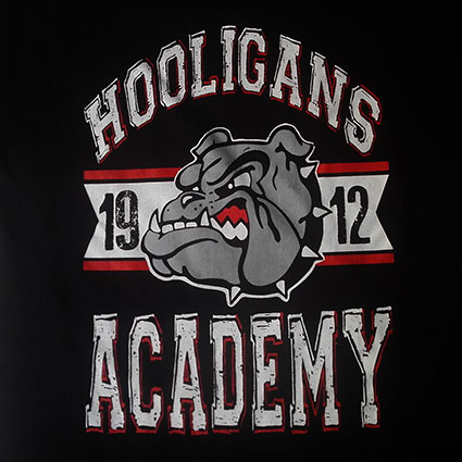 T-SHIRT BLACK (HOOLIGANS ACADEMY)