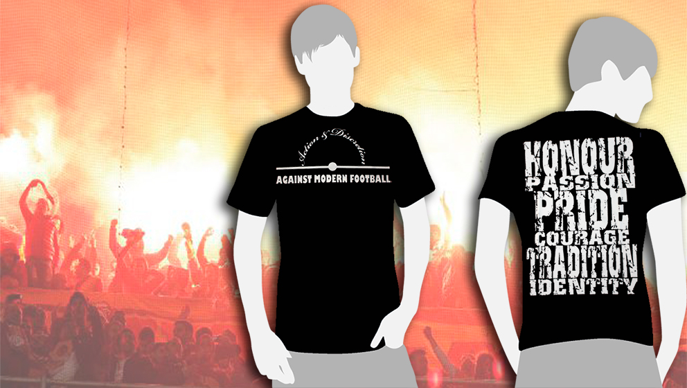 CAMISETA NEGRA Action & Discretion / AGAINST MODERN FOOTBALL