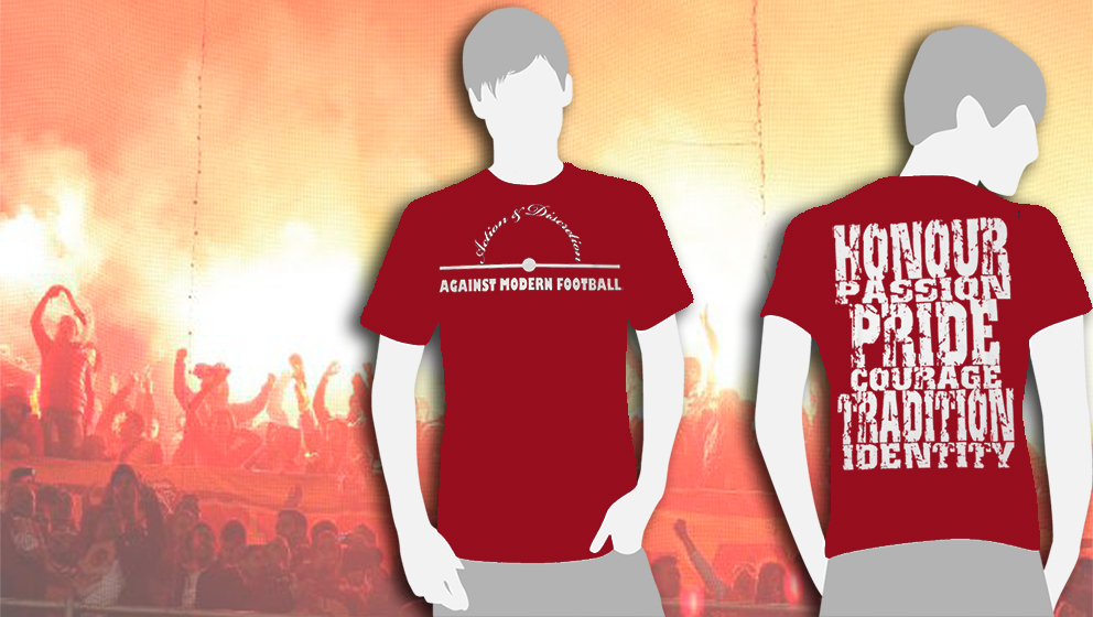 CAMISETA BURDEOS Action & Discretion / AGAINST MODERN FOOTBALL