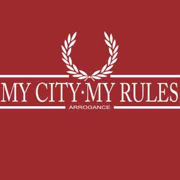 CAMISETA LAUREL ARROGANCE (MY CITY MY RULES -BURDEOS-)