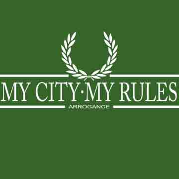 T-SHIRT (GREEN LAUREL ARROGANCE (MY CITY MY RULES)