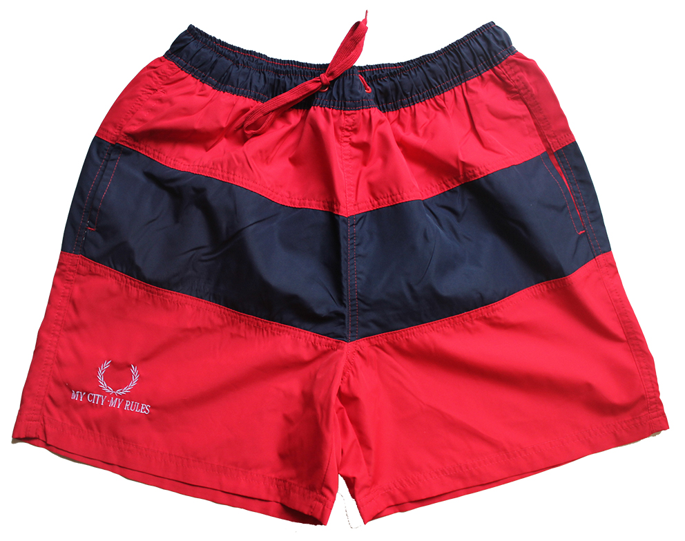 MEN'S SWIMWEAR NAVY/RED (MY CITY MY RULES)