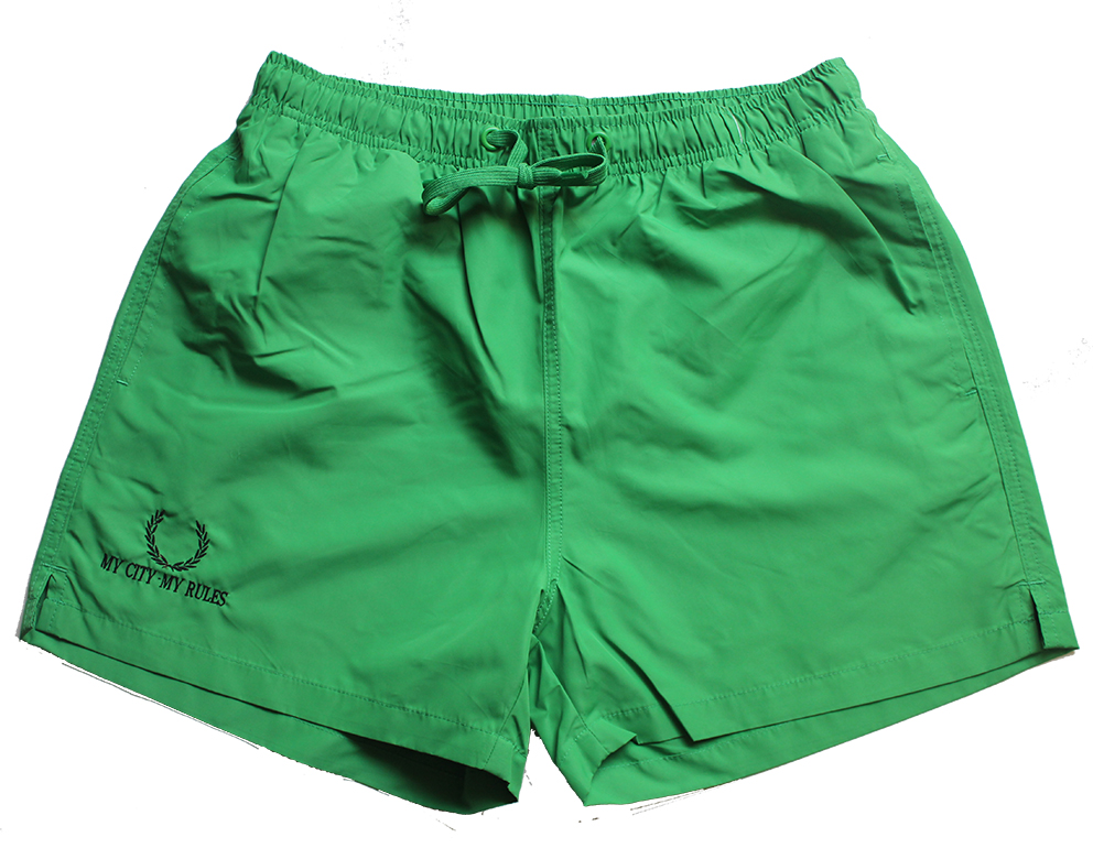MEN'S SWIMWEAR BRIGHT GREEN (MY CITY MY RULES)