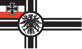 BANDEIRAS (II REICH BATTLE FLAG 1903-1919)