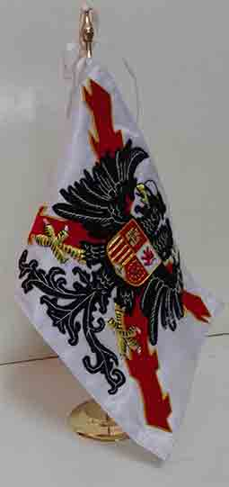 DESKTOP FLAG (DOUBLE HEADED EAGLE/ST. ANDREW´S CROSS)