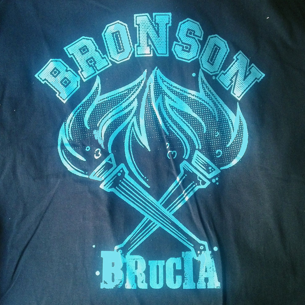 T-SHIRT BRONSON (BRUCIA)+STICKER