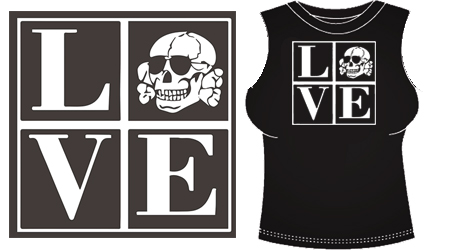 GIRL TANK TOPS (LOVE/TOTENKOPF)