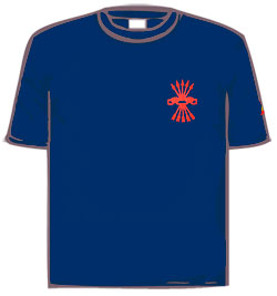 T-SHIRT BLUE (YOKE & ARROWS)