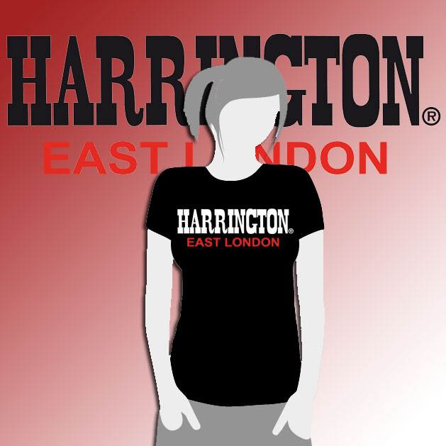 CAMISETA CHICA HARRINGTON NEGRA