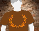 T-SHIRT (BROWN LAUREL (MY CITY MY RULES)