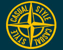 T-SHIRT (NAVY / CASUAL STYLE) LOGO YELLOW