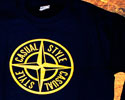 SWEAT-SHIRTS (NAVY CASUAL STYLE LOGO YELLOW)