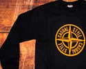 SWEAT-SHIRTS (BLACK CASUAL STYLE LOGO YELLOW)
