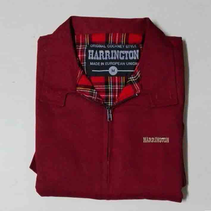 HARRINGTON JACKET (BURGUNDY)