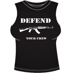 CAMISETA CHICA TIRANTES DEFEND YOUR CREW
