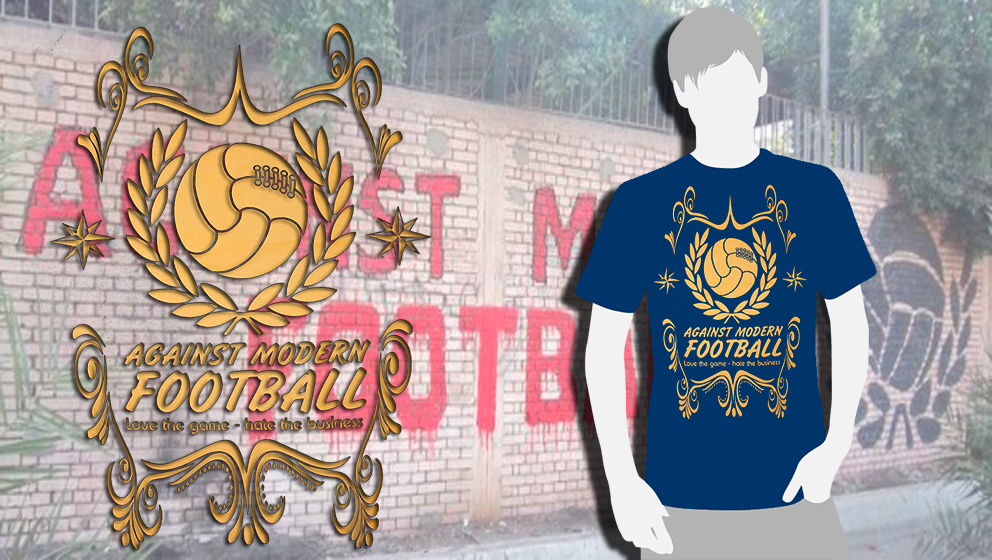 CAMISETA AZUL Action & Discretion (AGAINST MODERN FOOTBALL)