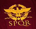 T-SHIRT (BURGUNDY EAGLE/SPQR)