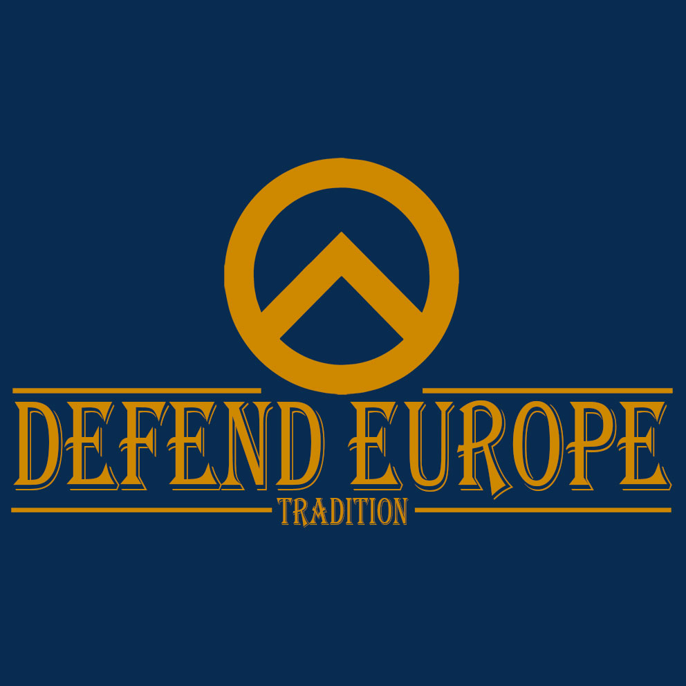 CAMISETA DEFEND EUROPE -TRADITION-AZUL/AMARILLO