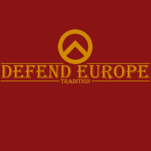 T-SHIRT DEFEND EUROPE TRADITION-BURGUNDY