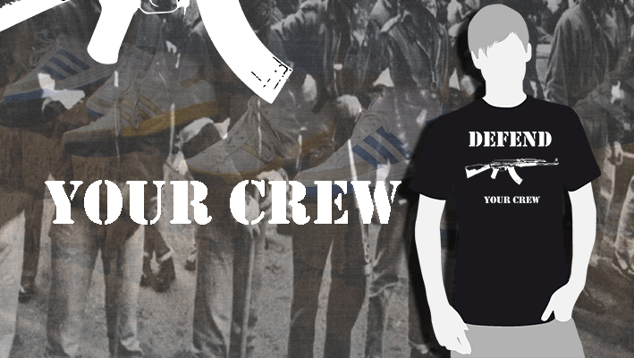 CAMISETA NEGRA DEFEND YOUR CREW