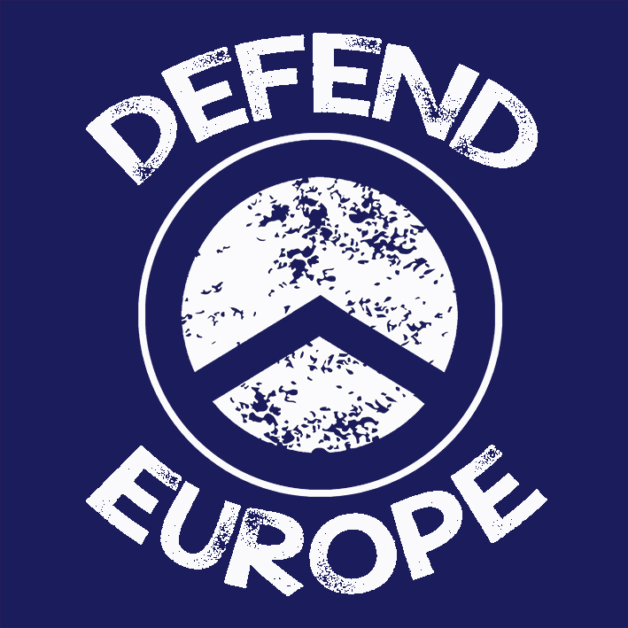 CAMISETA AZUL DEFEND EUROPE