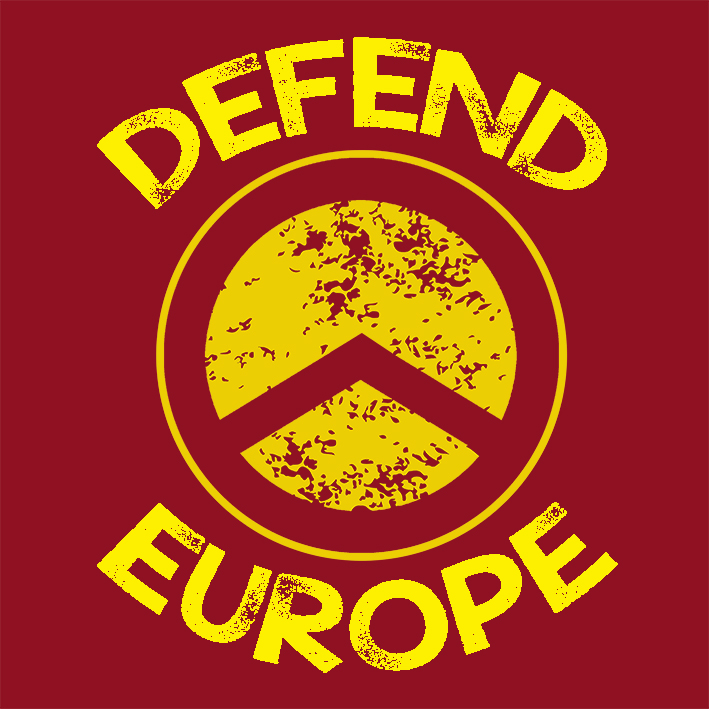 CAMISETA BURDEOS DEFEND EUROPE