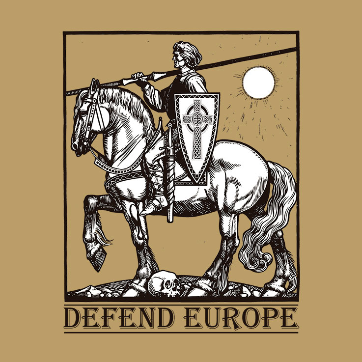 CAMISETA BEIGE DEFEND EUROPE (CABALLERO)