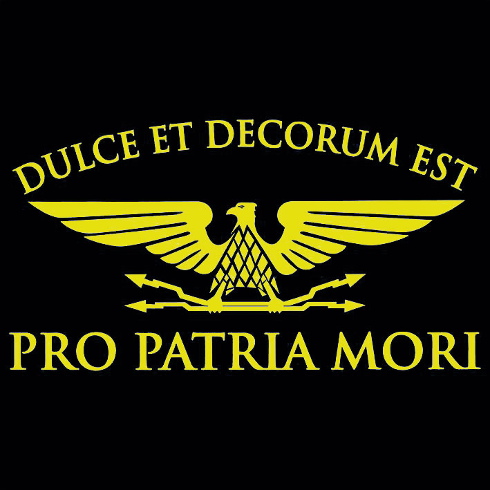 T-SHIRT (BLACK / DULCE ET DECORUM-YELLOW-)