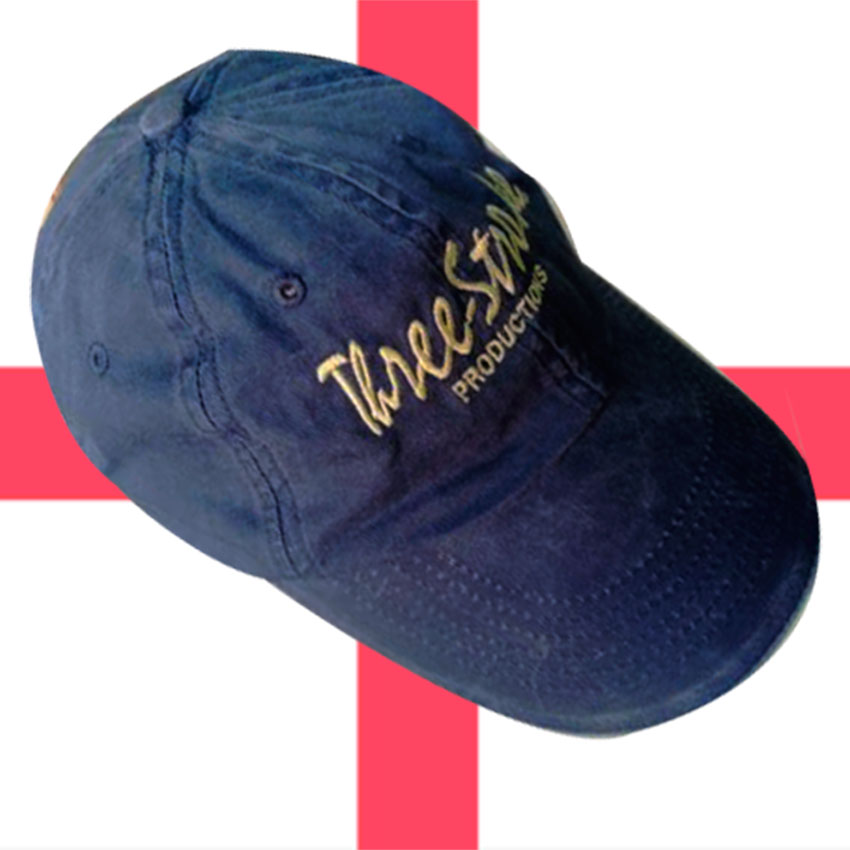 GORRA THREE-STROKE AZUL/AMARILLO