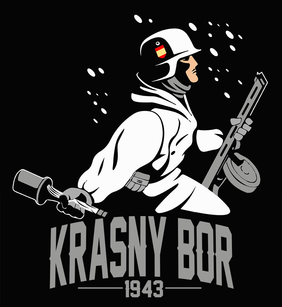 T-SHIRT (BLACK KRASNY BOR -1943-)