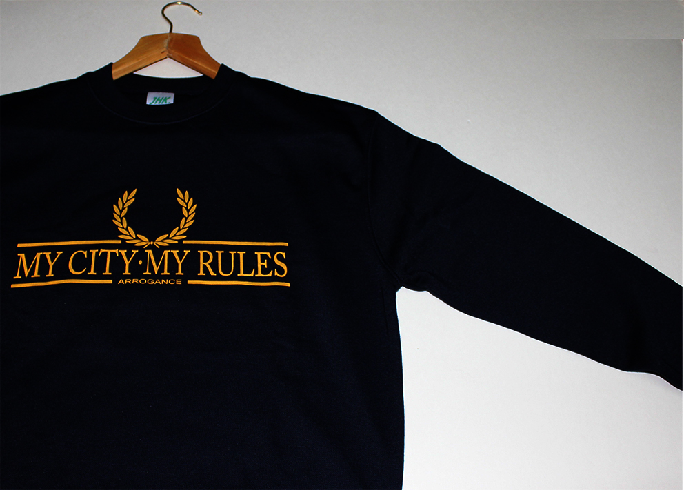 SWEATSHIRTS (BLACK/YELLOW LAUREL/ARROGANCE)