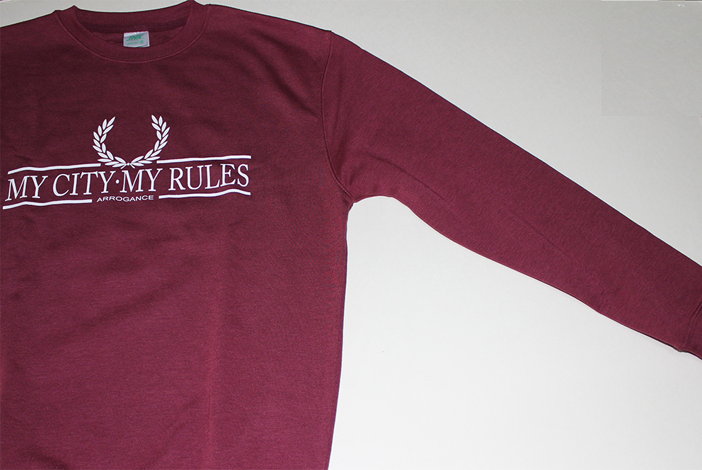 SWEATSHIRTS (BURGUNDY/WHITE LAUREL/ARROGANCE)