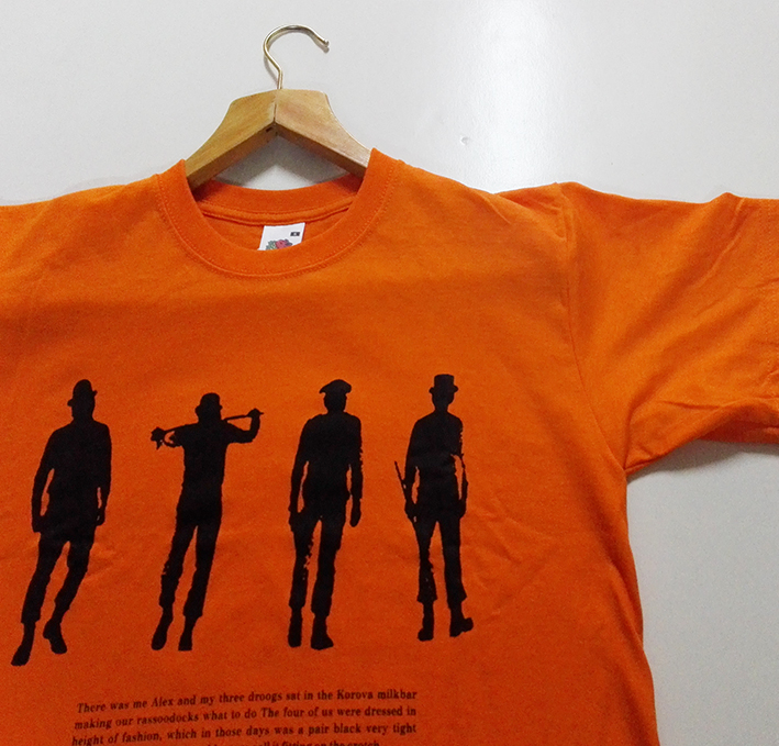 T-SHIRT ORANGE (CLOCKWORK ORANGE/SILHOUETTE)