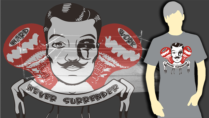 T-SHIRT (GREY BOXING NEVER SURRENDER)