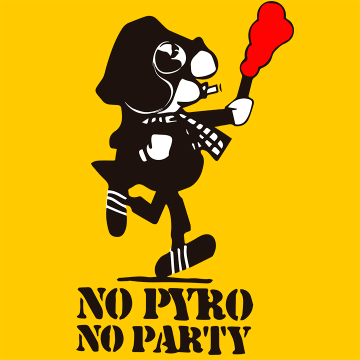 T-SHIRT (YELLOW NO PYRO NO PARTY -ANDY-)