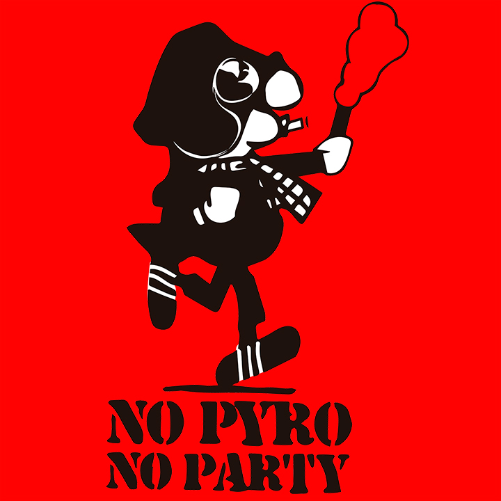 T-SHIRT (RED NO PYRO NO PARTY -ANDY-)