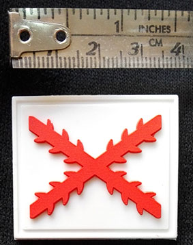 PATCH (INJECTED PLASTIC 3D -ST. ANDREW´S CROSS-)