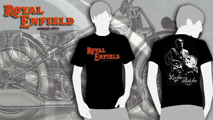 T-SHIRT (BLACK ROYAL ENFIELD/RAMIRO)