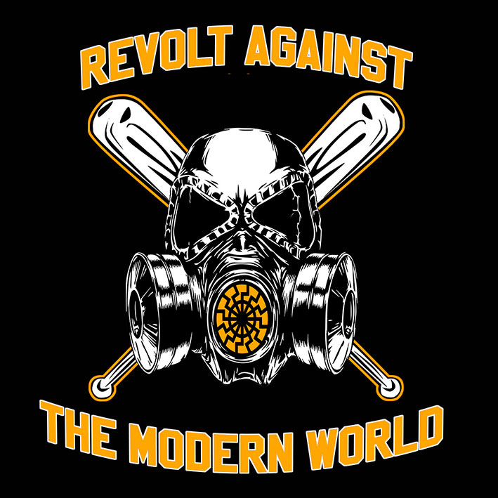CAMISETA REVOLT AGAINST THE MODERN WORLD (NEGRA)
