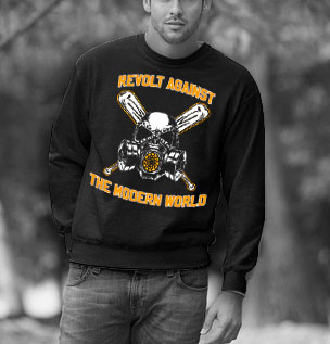 SWEATSHIRTS (BLACK REVOLT AGAINST THE MODERN WORLD )