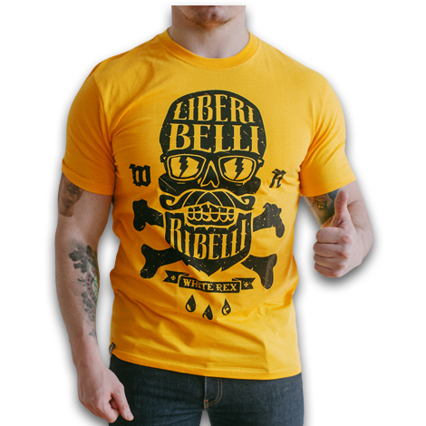 T-SHIRT YELLOW (LIBERI BELLI REBELLI)