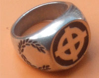 RING (ON BLACK CELTIC CROSS)
