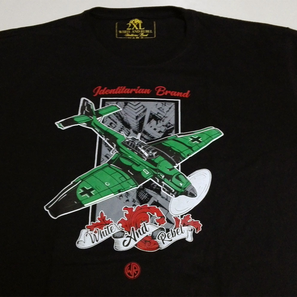 T-SHIRT GIRL W&R STUKA -BLACK-