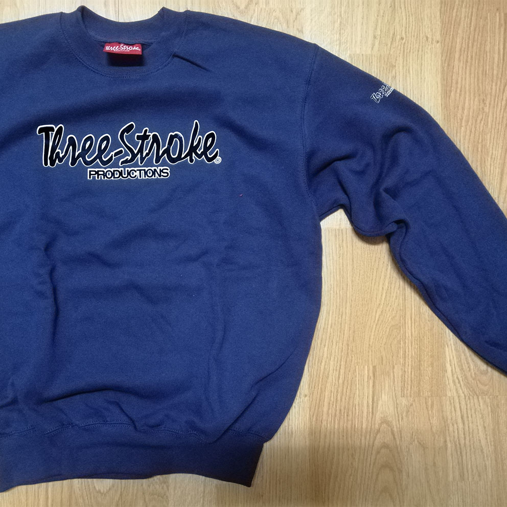 SWEATSHIRTS Three-Stroke NAVY (BLACK / WHITE)