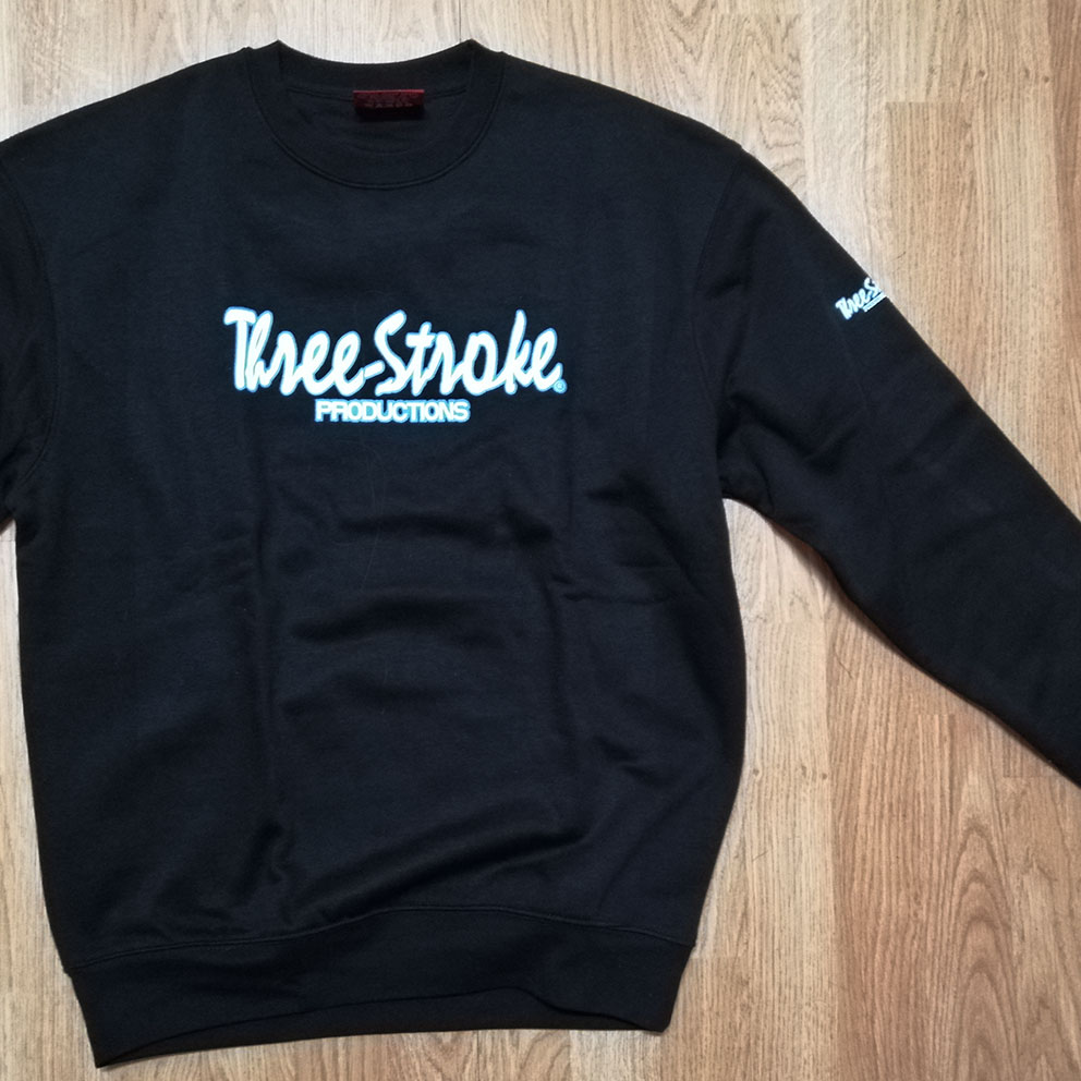 SWEATSHIRTS Three-Stroke BLACK (WHITE/ICE)