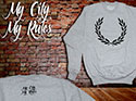 FELPE (GREY LAUREL MY CITY MY RULES)