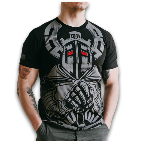T-SHIRT WHITE REX BLACK (TEUTON)