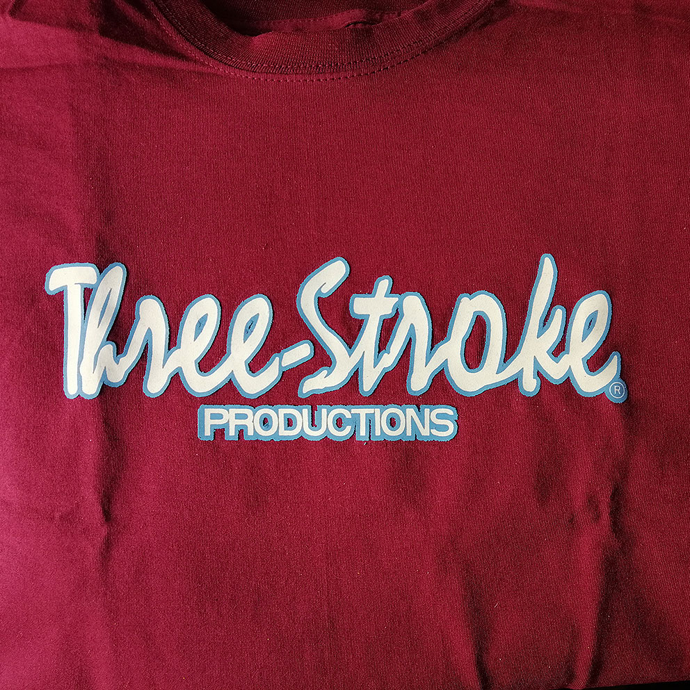 T-SHIRT Three-Stroke BURGUNDY (WHITE / ICE)