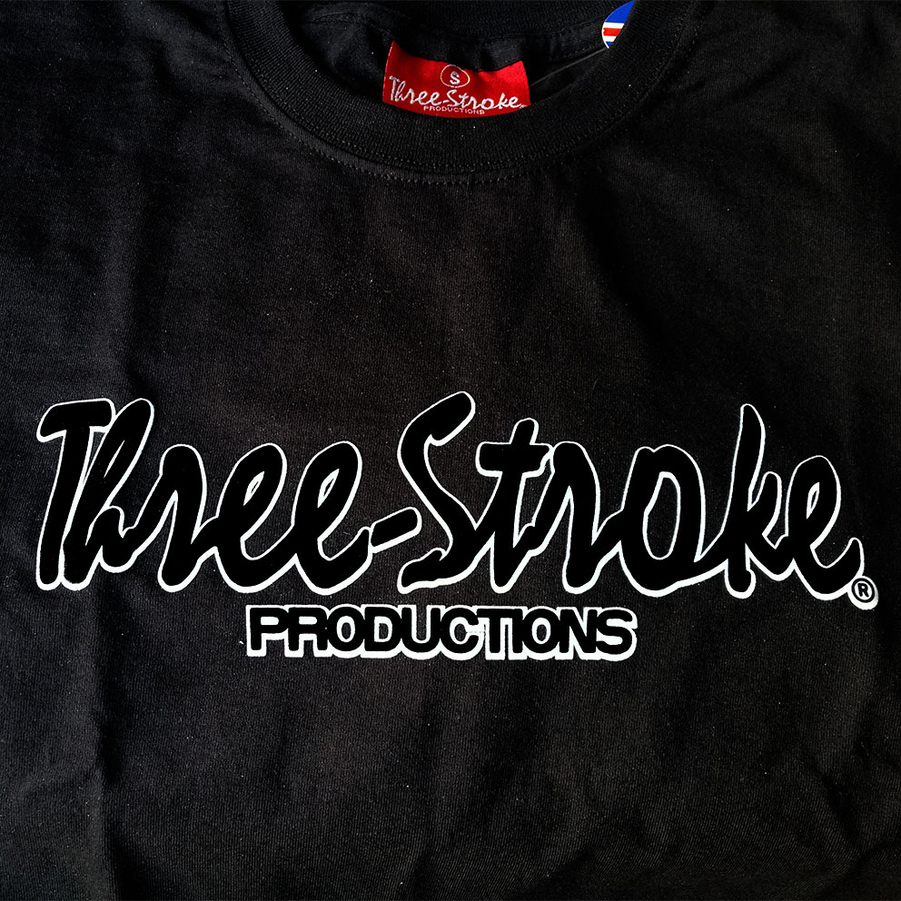 T-SHIRT Three-Stroke BLACK (BLACK /WHITE)